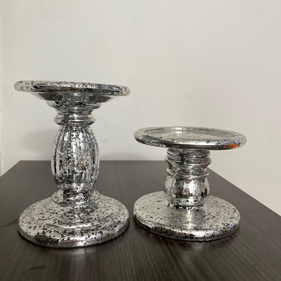 Bath and body works candle holders sliver